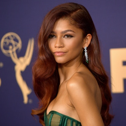 Zendaya's auburn shade is an example of a 2020 winter color trend.