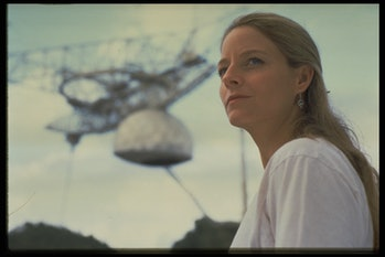 Gregorian Dome at Arecibo Observatory in Contact, Jodie Foster