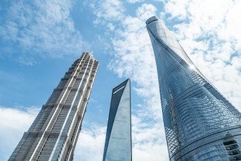Shanghai World Financial Center, center.
