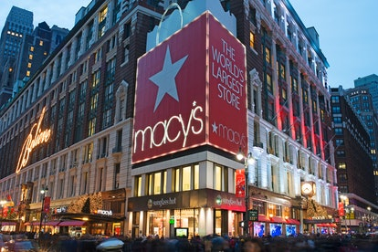 Macy's storefront in NYC.