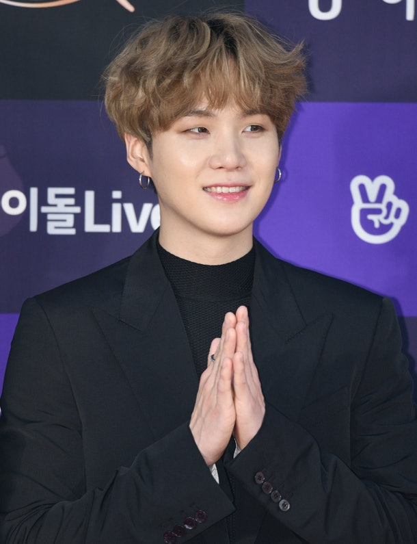 Suga from BTS' live video update after his shoulder surgery proves he's recovering well.