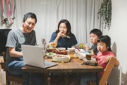 Virtual family dinner.