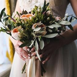 bride, bouquet, flowers, wedding