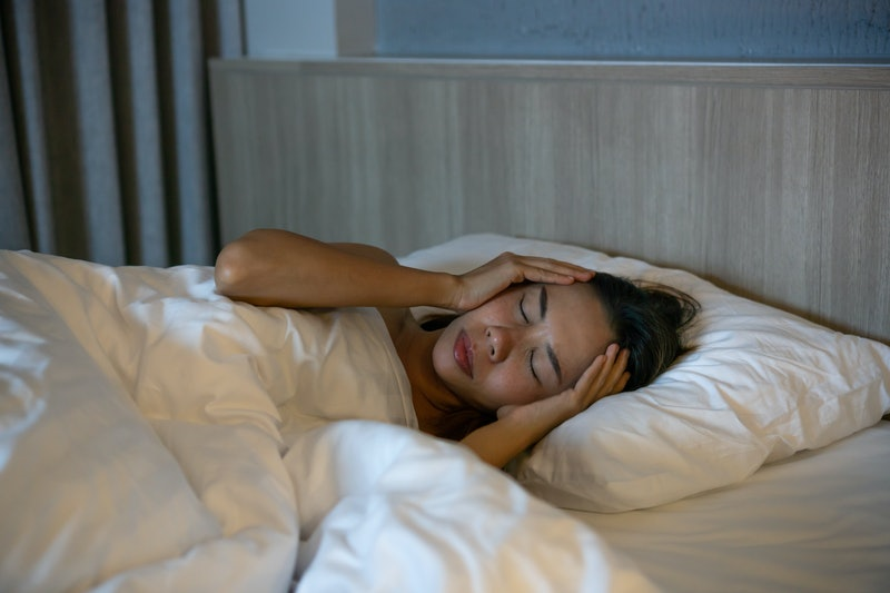 sleeping, tired, irritated