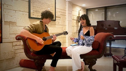 Singers Shawn Mendes and Camila Cabello.