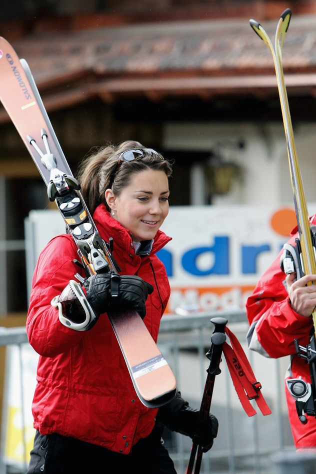 Kate Middleton prepares to ski in 2005.