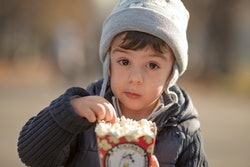 Eating popcorn should be a snack for children over the age of 4.