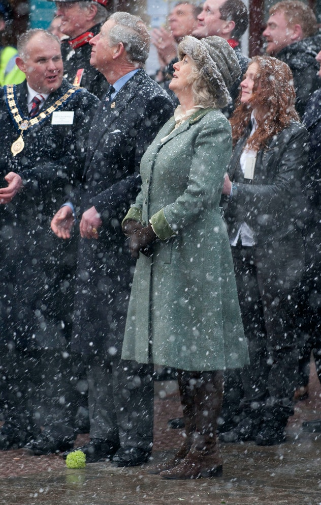 Prince Charles and Camilla Parker-Bowles visit a wreath ceremony in Nov. 2020.