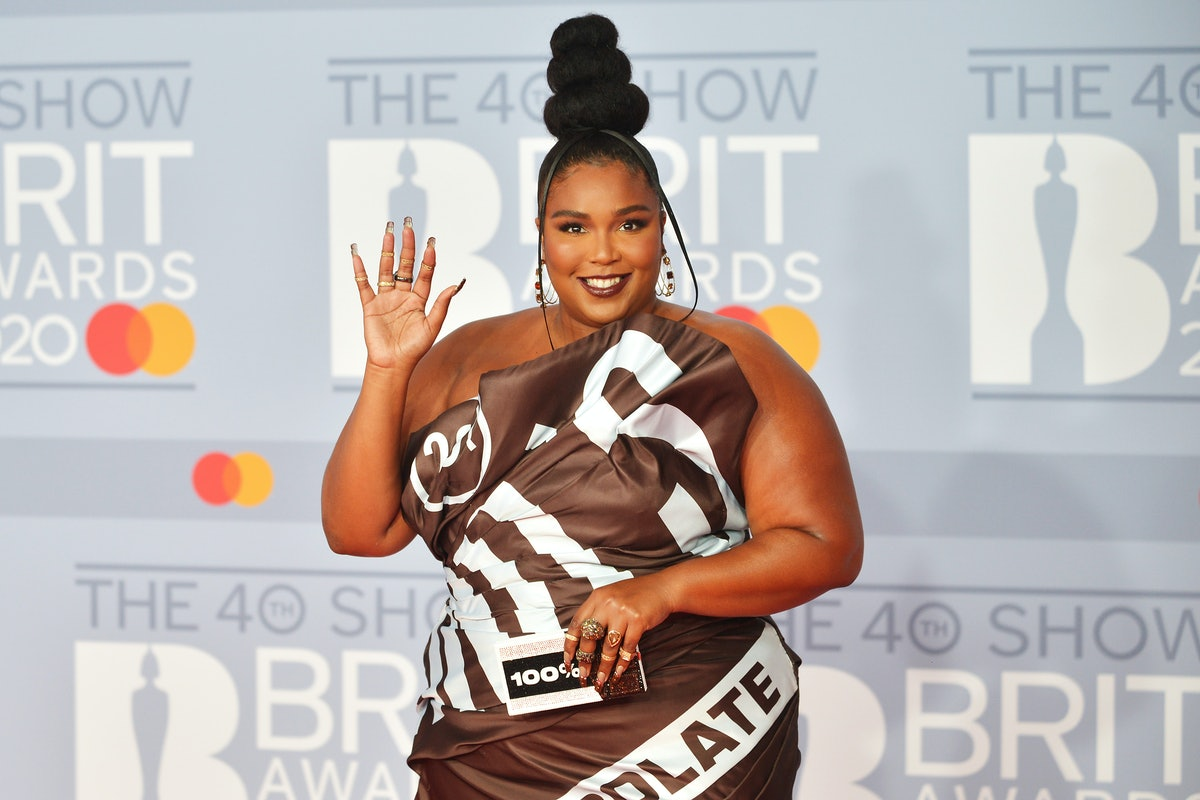 Lizzo attends the Brit Awards.