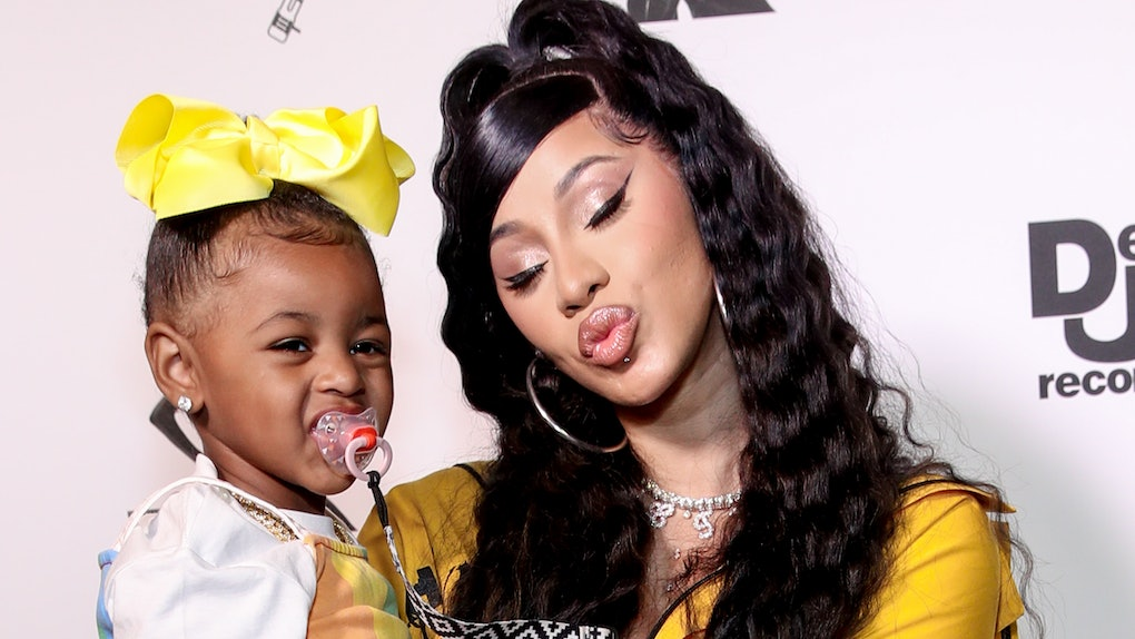 Cardi B and daughter Kulture attend a Def Jam event.