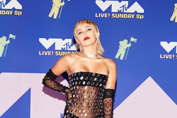 Miley Cyrus attends the VMAs.