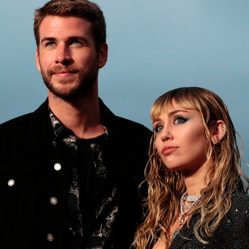 Former couple Liam Hemsworth and Miley Cyrus.