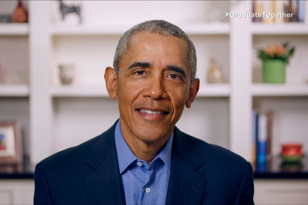 Barack Obama congratulated a first-time voter