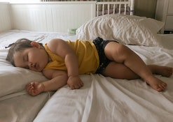 Some toddlers sleep sideways in bed, and here's why.