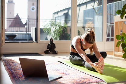 Unplug when you work from home by doing a transition activity, like working out