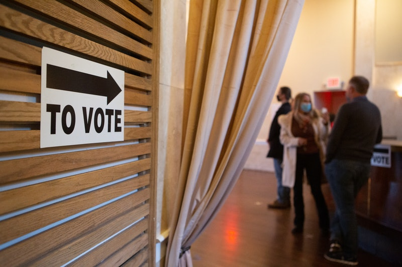 A polling place on election day. Here's what it means if your voter status is inactive
