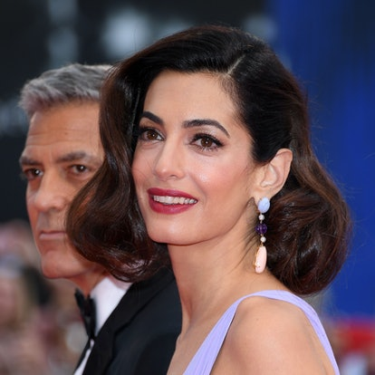 Amal Clooney's most iconic hairstyles: Old Hollywood lob.