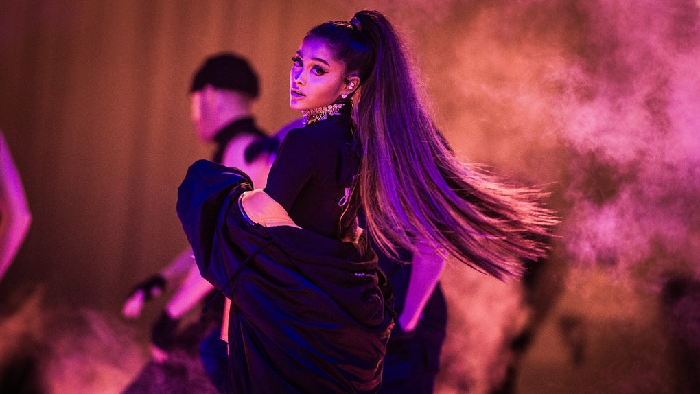 Ariana Grande performs live.