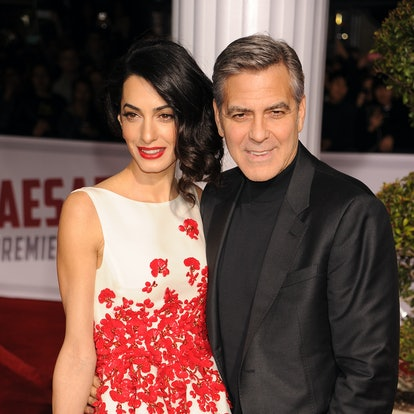 Amal Clooney's most iconic hairstyles: curled bob.