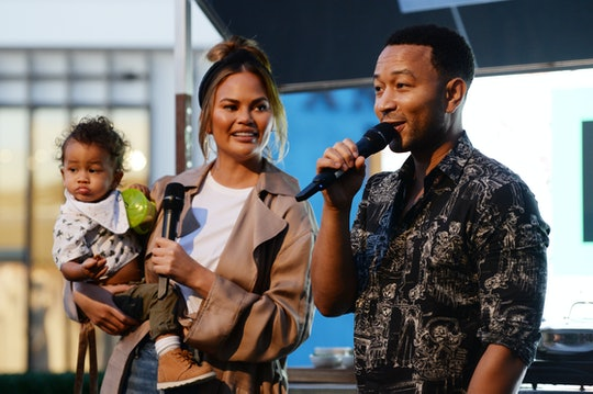 Chrissy Teigen's son Miles was excited to vote for the first time.