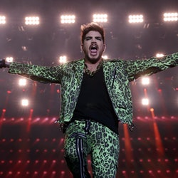 Singer Adam Lambert performs.