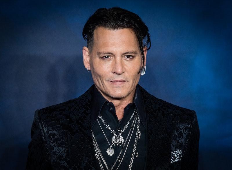 Johnny Depp at a 'Fantastic Beasts' premiere