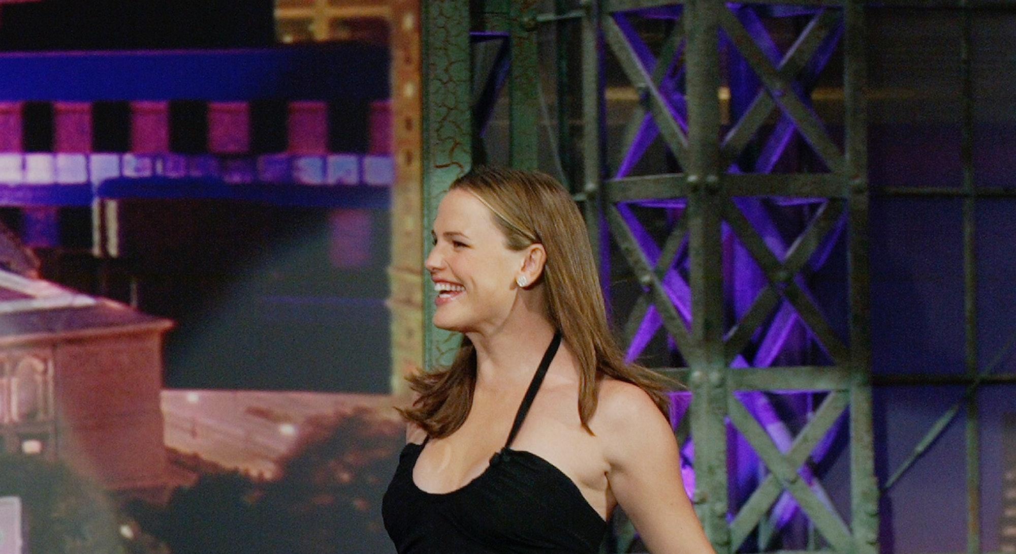 Jennifer Garner made a talkshow appearance in 2005 while pregnant.