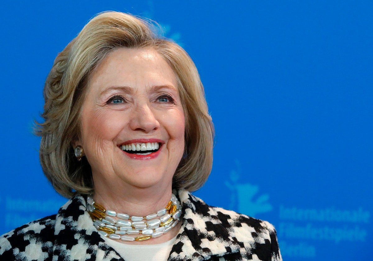 Hillary Clinton's tweet about the 2020 election results show she's happy.