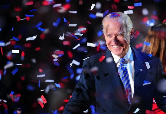 President-elect Joe Biden celebrates being named the winner of the 2020 presidential election in Delaware on Saturday.