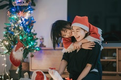 a family enjoying christmas