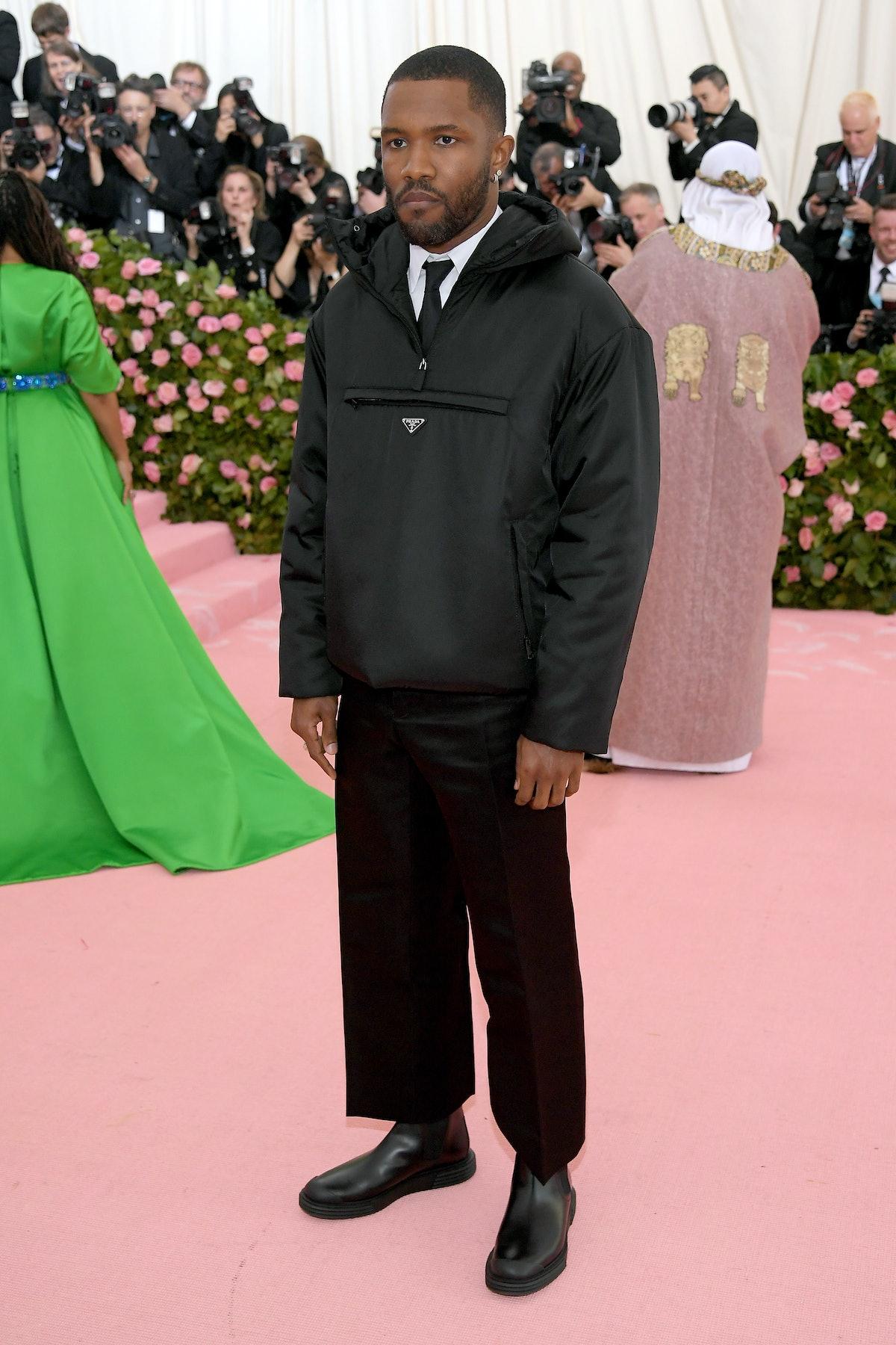 Frank Ocean attends the Met Gala.