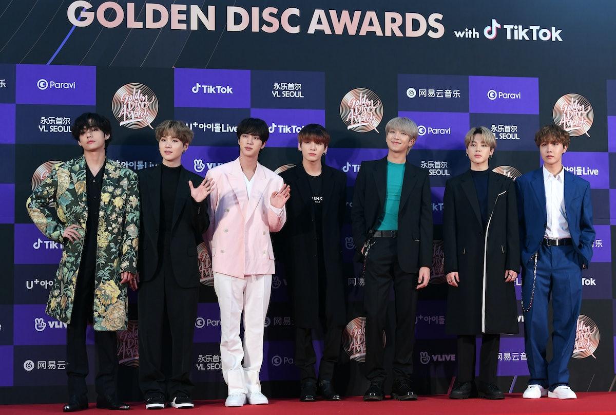 BTS attends the Golden Disc Awards.