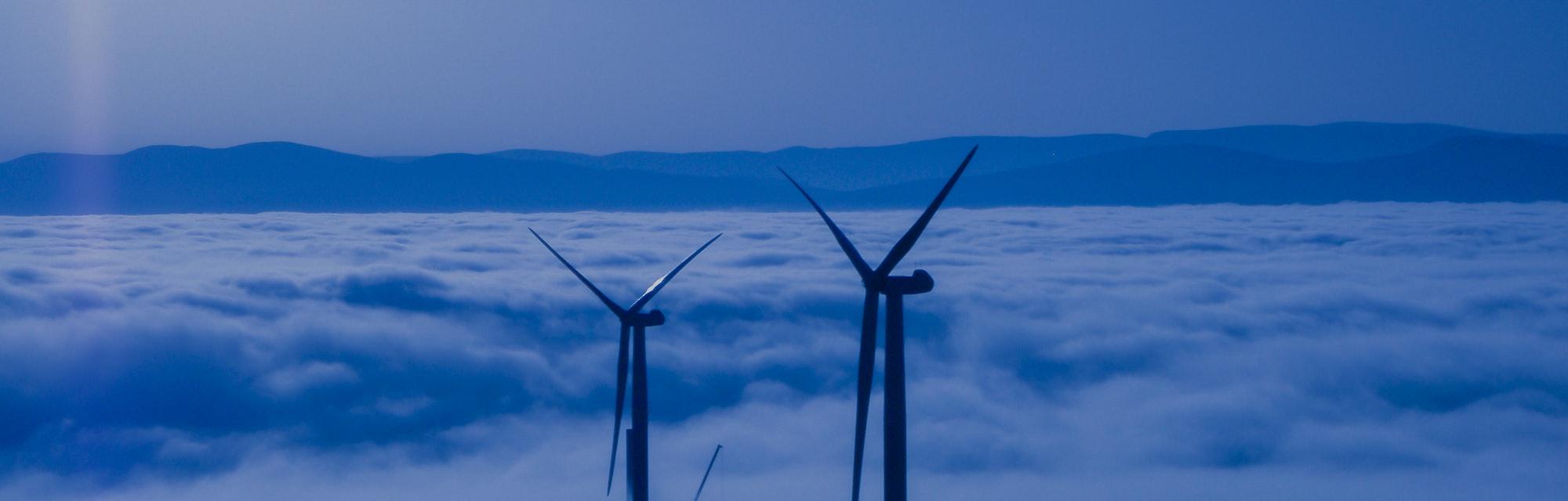 Wind turbines in Scotland.