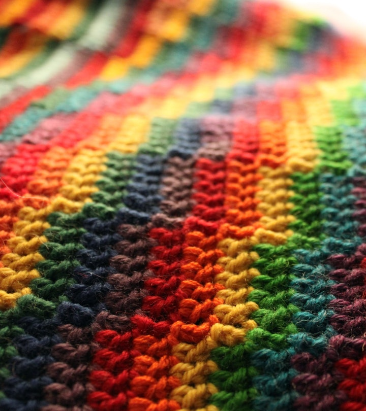 A mom upset her friend by crocheting a rainbow baby blanket.