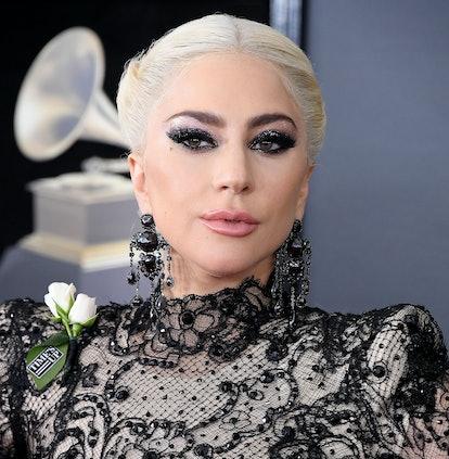 Lady Gaga's black eye look was a dramatic take on black eyeshadow.