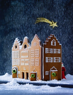 a beautiful gingerbread house