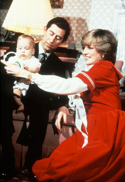 Prince Charles and Princess Diana with Prince William, Kensington Palace 1982.