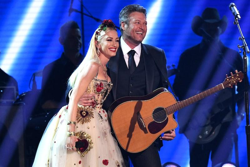 Gwen Stefani said she nearly ruined Blake Shelton's proposal. Photo via Getty Images