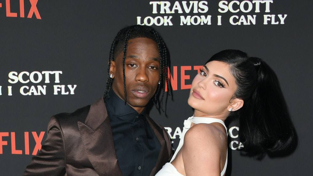 Kylie Jenner and Travis Scott attend the premiere of his Netflix documentary.