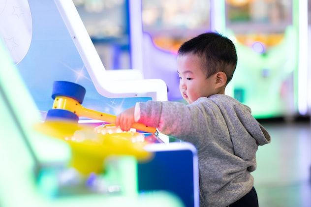 boy playing game