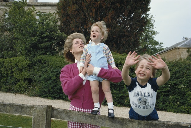 Prince William at Highgrove House in 1986.