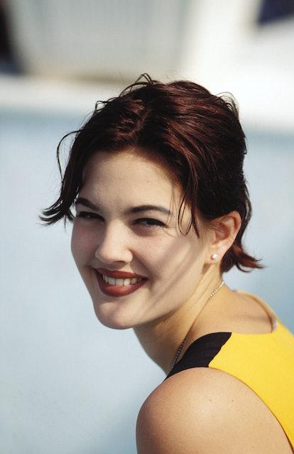 Drew Barrymore's dark hair at Cannes is one of her hair memories.