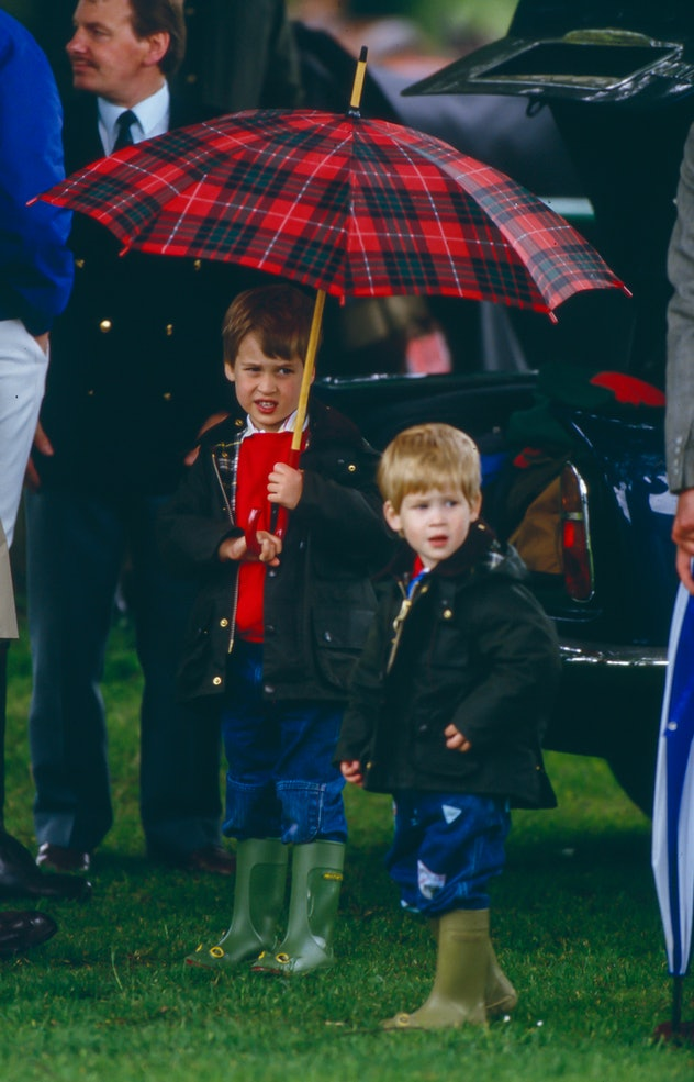 Prince William and Prince Harry in Cirencester in 1987.