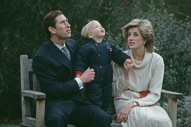 Prince William enjoyed outdoor time with his parents in 1983.