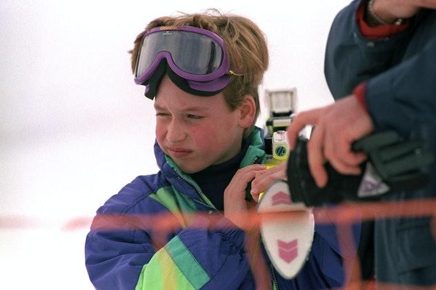 Prince William on a ski trip in Austria, 1991.