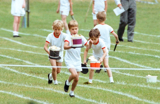 Prince William at Wetherby in 1989.