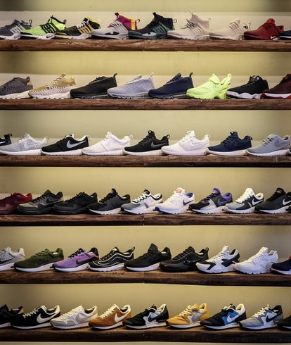Shelves of shoes