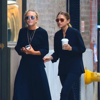 Actress Mary-Kate Olsen, Ashley Olsen is seen in Soho on September 4, 2015 in New York City.