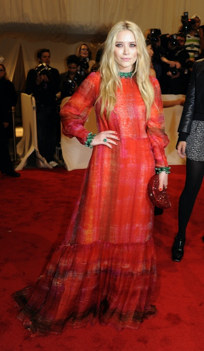 """Mary-Kate Olsen attends """"Alexander McQueen: Savage Beauty"""" Costume Institute Gala on April 2, 2011 a..."""
