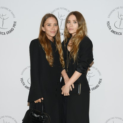 Mary-Kate Olsen and Ashley Olsen attend the Youth America Grand Prix's 20th Anniversary Gala at David H. Koch Theater, Lincoln Center on April 18, 2019 in New York City.